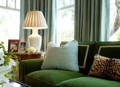 {crushing on green velvet} Love how true green/deep green and leopard print complement each other