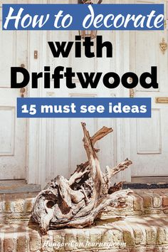 Transform driftwood Into a rustic coastal home decor. Driftwood is unique, and their weathered look is a perfect natural addition to any home decor. DIY racks, frames, sculptures, succulent…More Driftwood Furniture, Driftwood Projects, Driftwood Art, Driftwood Ideas, Diy Projects, Craft Tutorials, Rustic Outdoor Benches, Diy Rack, Unique Wall Art