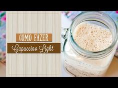 (18) COMO FAZER CAPUCCINO LIGHT | Dicas  #05 - YouTube Comida Diy, Peanut Butter, Chocolates, Youtube, 1, Base, Hot Chocolate, Health Snacks, Morning Coffee