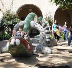 Mosaic dragon play sculpture, Balboa Park - Niki de Saint Phalle