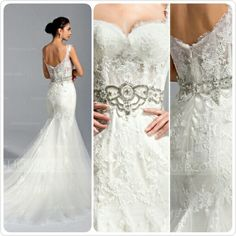 Gorgeous Wedding Gown from Jjshouse.com ~ http://www.jjshouse.com/Trumpet-Mermaid-Sweetheart-Chapel-Train-Tulle-Lace-Wedding-Dress-With-Beading-Sequins-002071763-g71763