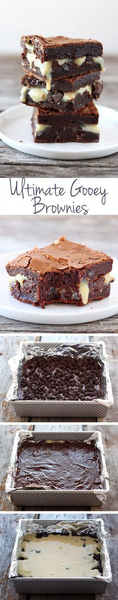 Ultimate Gooey Brownies - ridiculously amazing!