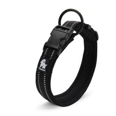 Creation Core 3M Reflective Mesh Padded Dog Collar Adjustable Nylon Outdoor Adventure cat Collar * Special cat product just for you. See it now! : Cat Collar, Harness and Leash