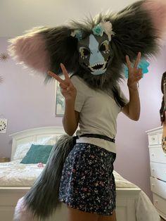 Furry Oc, Profile Picture Ideas, Dinosaur Mask, Dog Skeleton, Dog Mask, Mask Ideas, Skull Mask, Fantasy Art, Costumes