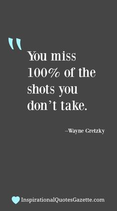 Inspirational Quote about Life and Taking Chances - Visit us at InspirationalQuotesGazette.com for the best inspirational quotes!
