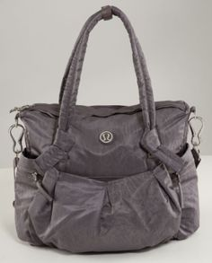 The perfect carryall. Lululemon Triumph Tote in Magnum Nesting Black Bird Emboss. Love it!!