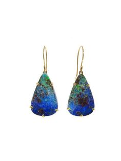 Jamie Joseph - Australian Boulder Opal Teardrop Earrings