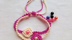 DIY Easy Macrame Square Bracelet Tutorial by Tita