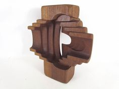 Abstract Carved Teak Sculpture by Brian Willsher Wooden Sculptures, Sculptures For Sale, Decorative Objects, Teak, Carving, Artists, Abstract, Sculpture, Wood