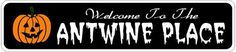 ANTWINE PLACE Lastname Halloween Sign - Welcome to Scary Decor, Autumn, Aluminum - 4 x 18 Inches by The Lizton Sign Shop. $12.99. Aluminum Brand New Sign. Great Gift Idea. Rounded Corners. 4 x 18 Inches. Predrillied for Hanging. ANTWINE PLACE Lastname Halloween Sign - Welcome to Scary Decor, Autumn, Aluminum 4 x 18 Inches - Aluminum personalized brand new sign for your Autumn and Halloween Decor. Made of aluminum and high quality lettering and graphics. Made to la...