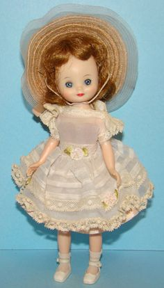 "Near mint Tiny Betsy McCall by American Character. 8 inches. Back then ""a toy"", now, a beloved collector piece."