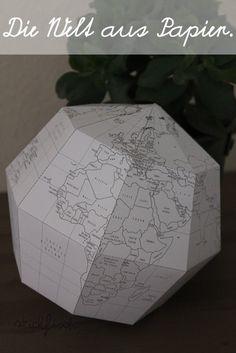 Papier-Globus zum Selberbasteln