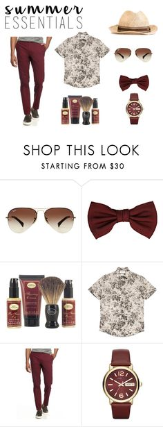"""Styled by Marijarich"" by marijarogovic ❤ liked on Polyvore featuring Ray-Ban, Lanvin, The Art of Shaving, Gucci, Red Camel, Marc by Marc Jacobs, men's fashion, menswear and summermenswearessentials"