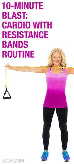 Get your cardio in with this resistance band routine.