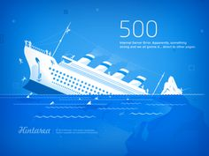 Hintarea error 500 by Andrey Prokopenko - Dribbble