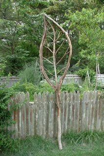 Garden Structures | Robot on Holiday...this would make an awesome trellis for beans or peas or other vines.