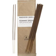 Fly Away Sticks: Eco-friendly incense sticks buzz off bees, mosquitoes and other flying pests with people-friendly orange and citronella oils. Cho Bham and Barrel Bug Off, Citronella Oil, Romantic Picnics, Romantic Dinners, Mosquitos, Orange Oil, Glow Sticks, Outdoor Planters, Incense Sticks