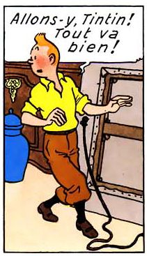 La vie de Tintin | Tintin se parle à lui-même.