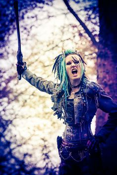 Post Apocalypse LivingDreadDoll - Fase 3 LARP https://www.facebook.com/livingdreadd0ll - picture by Eric Oaktree . Angry Wasteland Warrior  #Post #Apocalyptic#Mad #Max #Wastelanders