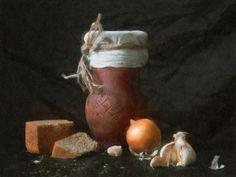 Картинки по запросу натюрморт с луком и хлебом