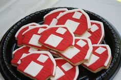 Barn Cookies for my daughters first birthday barnyard/farm party