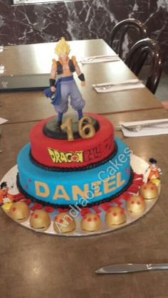 Dragonballz cake we made for our nephew.