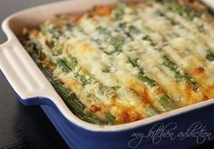 Ham and Asparagus Strata. Perfect for an Easter Brunch.