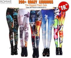Here's a hot deal for all leggings lovers out there! What are you doing now?? Having a holiday?? Preparing for exams?? Romwe leggings flash sale, will you go??? There are 200 crazy leggings available and all for only $19.99! The sale will be for 3- days only: 06/18/2013-06/20/2013 Start picking your favorite now – http://www.romwe.com/manage_activity/200+_leggings_flash_sale/ - See more at: http://hotfunstuffs.com/2013/06/flash-sale-romwe-leggings-at-19-99/#sthash.EYk5U1k1.dpuf