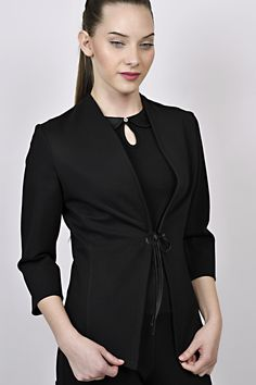 business look, all black outfit, black jacket, black top, managemnet, receptions Business Look, All Black Outfit, Receptions, Black Tops, Management, Blouse, Long Sleeve, Sleeves, Jackets
