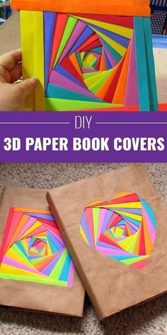This is so cool! How to make a 3D paper book cover. Adding this to my back-to-school list for fun crafts that tweens/teens can do.