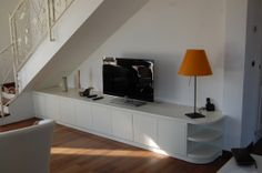 Under stair white laquered