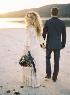 lakeside engagement | michael radford photography | via: grey likes weddings