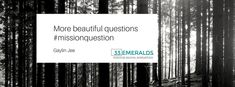 More beautiful questions Innovation is all about being that person who thinks about, asks and owns the answering of questions.