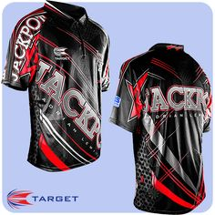 Adrian Lewis - Target Authentic Replica Dart Shirt - Cool Play - XS to 5XL - Jackpot - Red - https://www.dartscorner.co.uk/product_info.php?cPath=3_345&products_id=19640