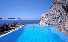 Hotel Luna Convento pool in Amalfi, Italy... where we went for our honeymoon.