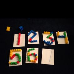 """Easy Pre-writing activity for block loving toddlers. Draw a large letter or shape on a plain piece of construction paper and have the little one use their blocks to """"build"""" the letter.  My 2 year old loves it!"""