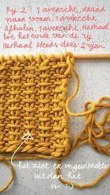 Laatst las ik een artikel in the New York Times over breien en haken, fijn artik. New York Times, Stitch Patterns, Knitting Patterns, Crochet Patterns, Knitting Stiches, Crochet Stitches, Crochet Wool, Crochet Baby, Creative Knitting