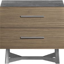 Broome 2 Drawer Nightstand