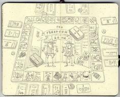 Sketchbook 22 by Mattias Adolfsson, via Behance