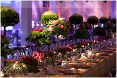 Earthy Green and Pink Table Top from the Wedding Event at TSE 2013 designed by Anthony Gowder Designs