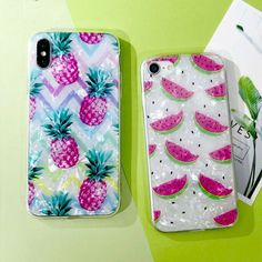 Pink Watermelon Pineapple iPhone Cases - Just Pink About It - Shop for cute and fun PINK theme phone cases. Pink flamingos, pineapple, watermelon and Diy Phone Case, Iphone Cases, Cellphone Case, Walpaper Black, Phone Photography, Coque Iphone, Phone Covers, Diy Videos, Ipod Touch