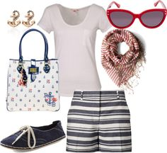 Outfits - Naut On My Yacht - Nautical I need these shorts ASAP!