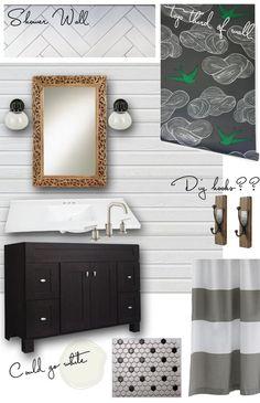 the HUNTED INTERIOR: A Shared Bathroom Design