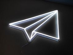 Paper Plane - 70 cm high This is an example of a model that we've created for one of our customer. We are specialised in custom neon signs. We produce on demand any shape/design of neons. Contact us for a personalised quote of your dreamed neon Neon Wallpaper, Aesthetic Iphone Wallpaper, Aesthetic Wallpapers, Neon Light Signs, Led Neon Signs, Neon Aesthetic, Aesthetic Collage, Disco Licht, Embroidered Paper