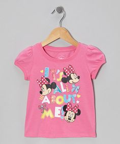 Pink 'It's All About Me' Minnie Tee - Infant & Toddler by Minnie's Bow-Tique #zulily #zulilyfinds