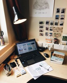 ✨Pinterest✨: @baddiebecky21| Bex ♎️ | Study Areas, Study Rooms, Study Desk, Study Space, Work Desk, School Motivation, Study Motivation, Desk Setup, Office Setup