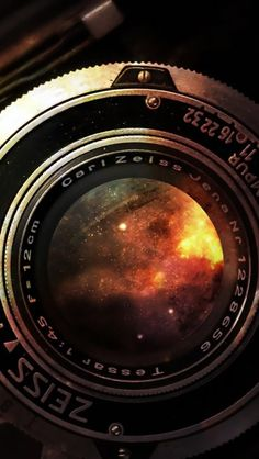 Space In Vintage Camera Lens iPhone 5 Wallpaper Download - more free iPhone Wallpapers on www.ilikewallpaper.net