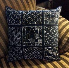 sashiko pillow | by davis.jacque