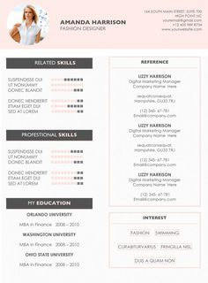 Resume Templates Microsoft Word 2010 Enchanting Creative Resume Template  A4 And Us Letter  Cv Template  Cover .