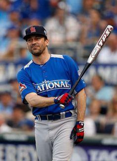 Jon Hamm In baseball attire